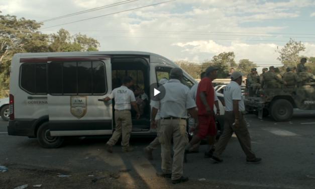 La represión de la guardia nacional contra los niños migrantes en cortometraje